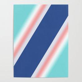 Colorful diagonal stripes . Poster