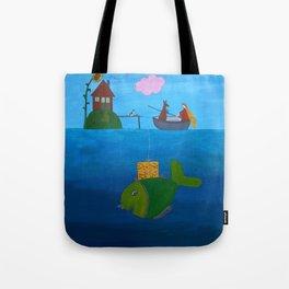 Ozzi and Lulu Fishing Tote Bag