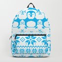 Cute Blue Scandinavian Penguin Holiday Design by oursunnycdays
