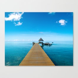 Tahiti Boat Dock Canvas Print