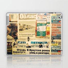 Russian newspapers Laptop & iPad Skin