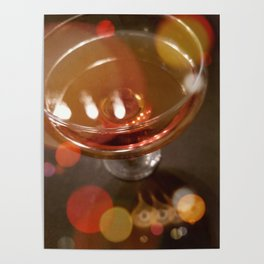 Lights Glistening in an Evening Drink Poster