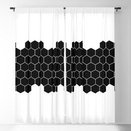 Honeycomb Black & White Blackout Curtain
