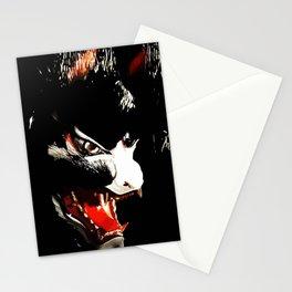 Kitsune Yokai Japanese Evil Fox Mask Stationery Cards