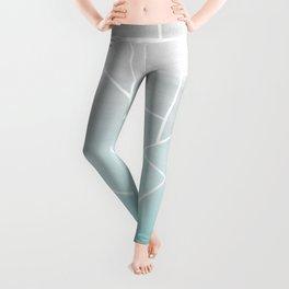 Soft Teal Gray Watercolor Geometric Glam #1 #geo #decor #art #society6 Leggings