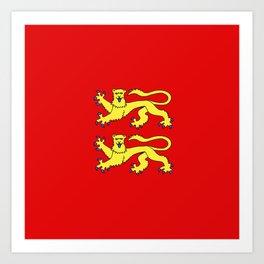flag of normandie Art Print