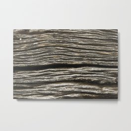 Knock on wood Metal Print