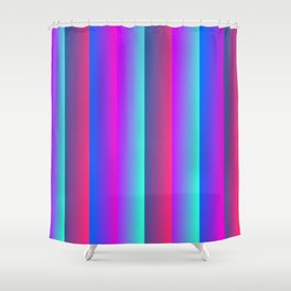 Neon light 80's color retro pattern Shower Curtain