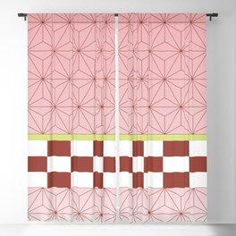 nezuko pattern Blackout Curtain