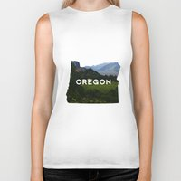 oregon Biker Tanks featuring Oregon by Hillary Murphy