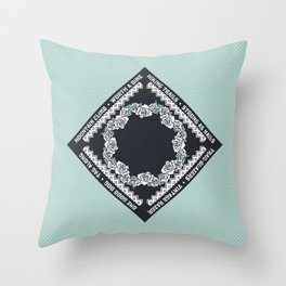 Hiking Trails-Strong as Nails Throw Pillow
