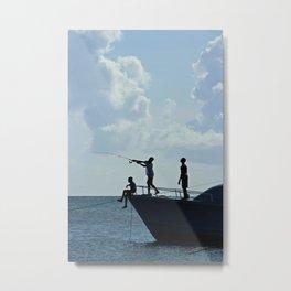 Fishing Metal Print