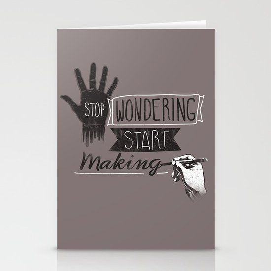Stop Wondering Start Making Stationery Cards