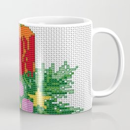 Christmas Candle Cross Stitch Coffee Mug