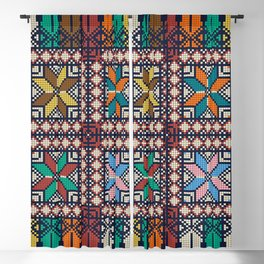 Palestinian embroidery pattern Blackout Curtain