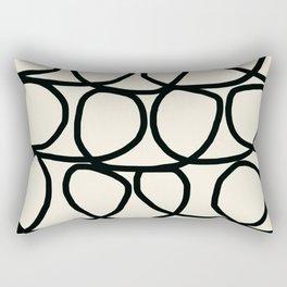 Loop Di Doo Cream & Black Rectangular Pillow