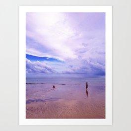On the beach the Ocean Art Print