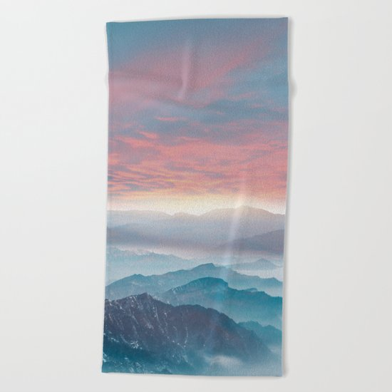 Pastel vibes 72 Beach Towel