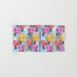 Trio of Peonies - Summer Pastels Hand & Bath Towel