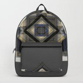 Hand Made Edited Pencil Geometry in Grey Backpack