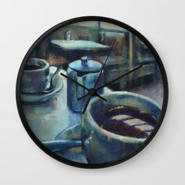 Morning in the Diner Wall Clock