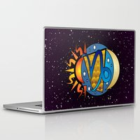 astrology Laptop & iPad Skins featuring Astrology, Capricorn by Karl-Heinz Lüpke