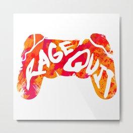 Rage Quit Metal Print
