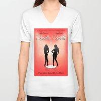 seinfeld V-neck T-shirts featuring Rochelle Rochelle - Movie Poster - Seinfeld by William Cuccio aka WCSmack