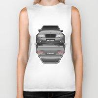 car Biker Tanks featuring Car by IrvSim