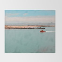 Morro Bay Day  Throw Blanket