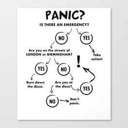 Panic Attack Canvas Print