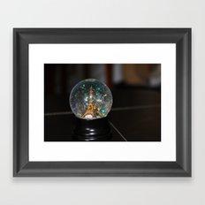 Paris in a Snow Globe  Framed Art Print