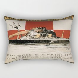Vintage poster - Canadian Pacific Cruises Rectangular Pillow
