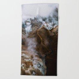 Kerlingarfjöll mountain range in Iceland - Aerial Landscape Photography Beach Towel