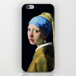 Jan Vermeer Girl With A Pearl Earring Baroque Art iPhone Skin