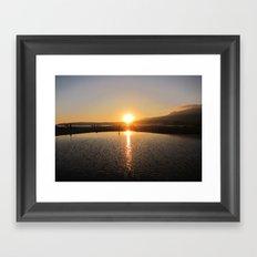 Costa de la luz Framed Art Print