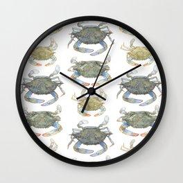 Blue Crabs Wall Clock