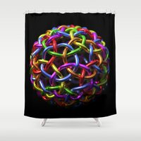 circle Shower Curtains featuring circle by store2u