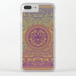 Medalion Purple Clear iPhone Case