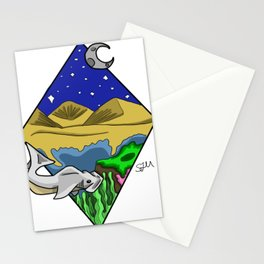 From the night sky to the ocean floor Stationery Cards