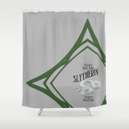 They See Me Slytherin Shower Curtain