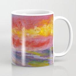 Together under shooting stars. Oil pastel. Coffee Mug
