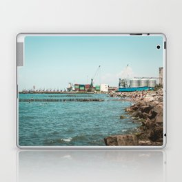 Landscape photo - sea port Laptop & iPad Skin