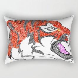 dotted tiger Rectangular Pillow