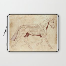 Da Vinci Horse: The Trot Revealed Laptop Sleeve