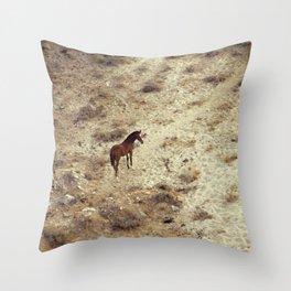 Horse in Santorini Throw Pillow