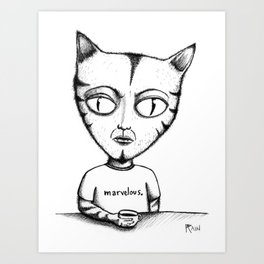 Marvelous Cat Art Print