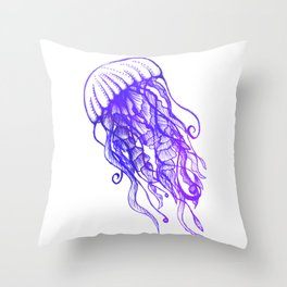 Rainbow Jellyfish Throw Pillow