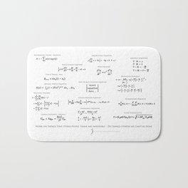 High-Math Inspiration 01 - Black Bath Mat