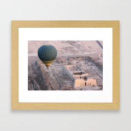 King Ramesses III temple by hot air balloon Framed Art Print